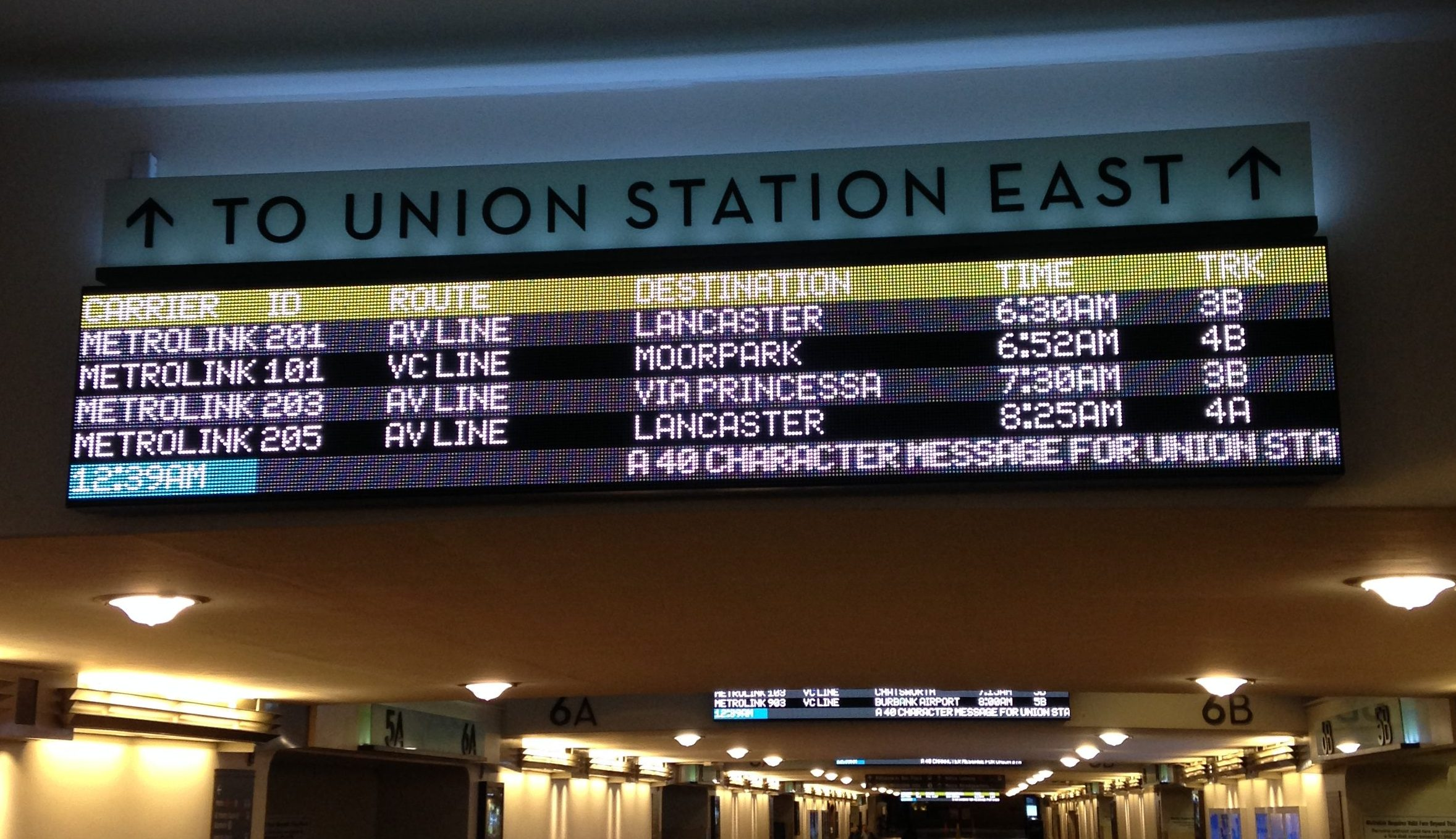 Union Station LED Board